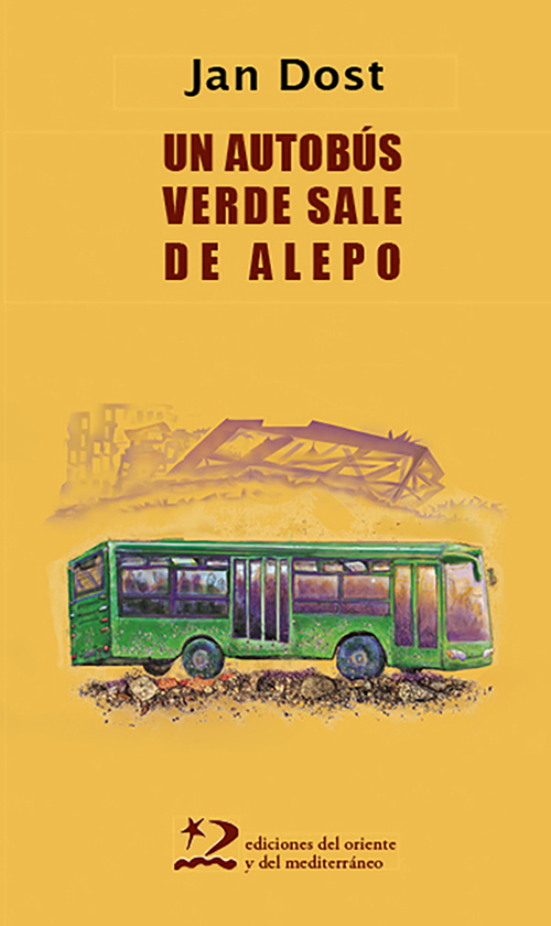 UN AUTOBÚS VERDE SALE DE ALEPO