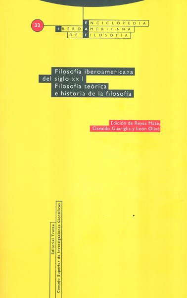 FILOSOFÍA IBEROAMERICANA DEL SIGLO XX. VOL. I